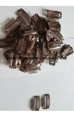 Annie Wig Clips Small Brown...