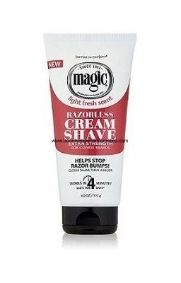 MAGIC RAZORLESS CREAM SHAVE...
