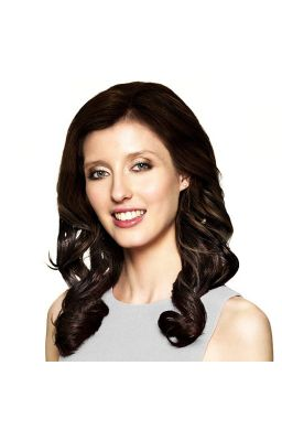 Sleek Synthetic Half Wig -...
