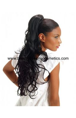 Sleek Synthetic Ponytail -...